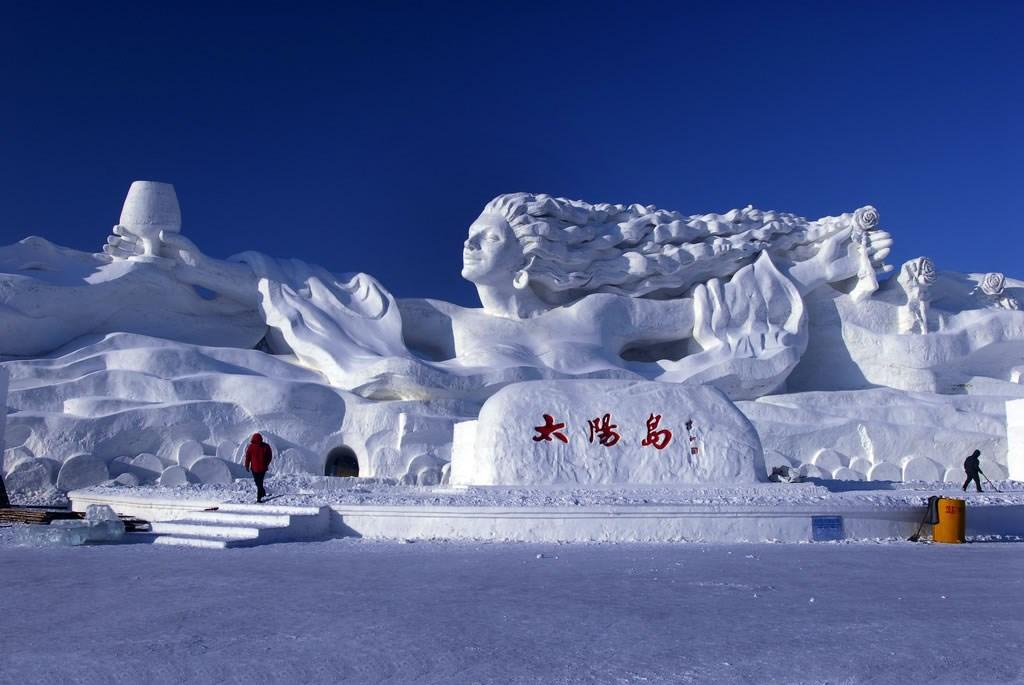 太阳岛雪景