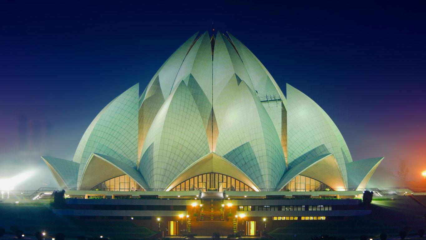 印度新德里的莲花庙