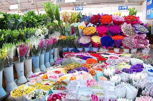 新万博体育手机版鲜花市场